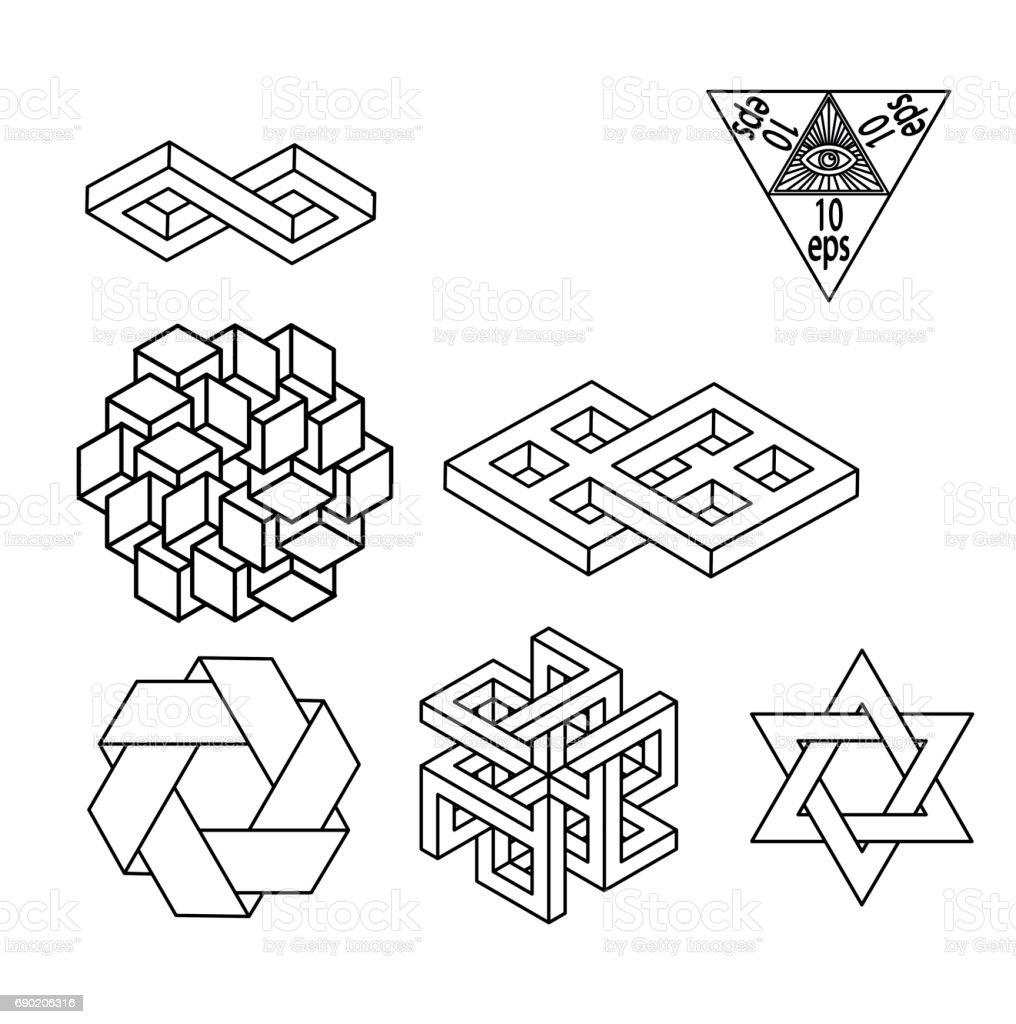 Impossible geometry symbols vector set stock vector art more impossible geometry symbols vector set royalty free impossible geometry symbols vector set stock vector art biocorpaavc