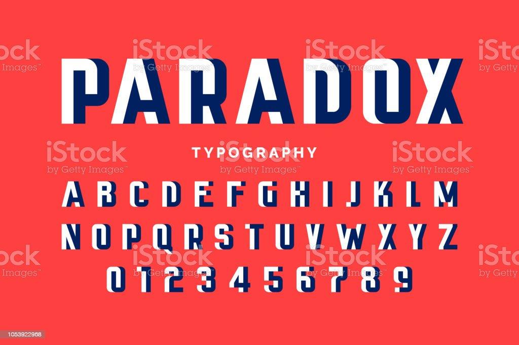 Impossible shape font impossible shape font - immagini vettoriali stock e altre immagini di alfabeto royalty-free