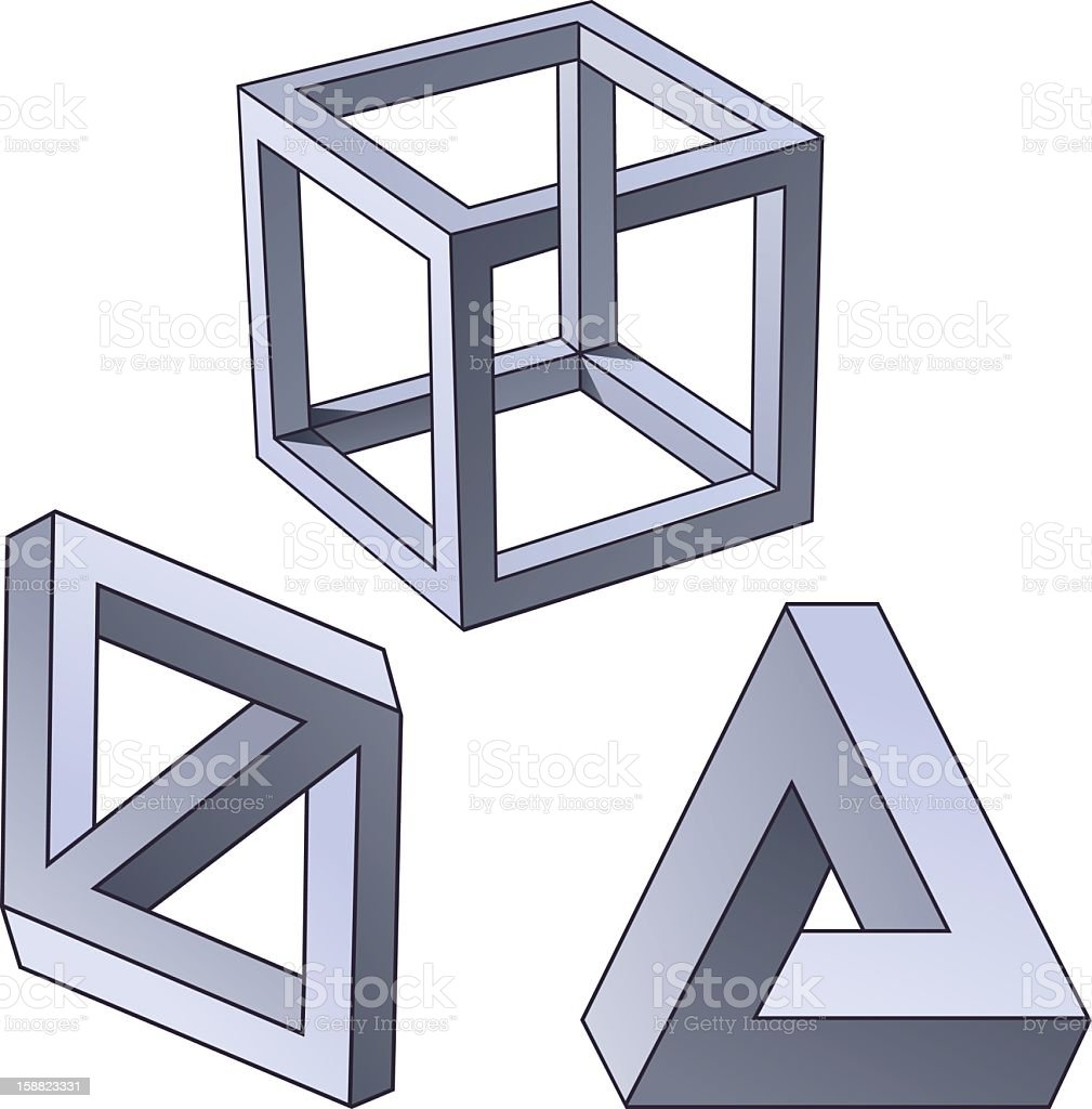 Impossible shapes royalty-free impossible shapes stock vector art & more images of adversity
