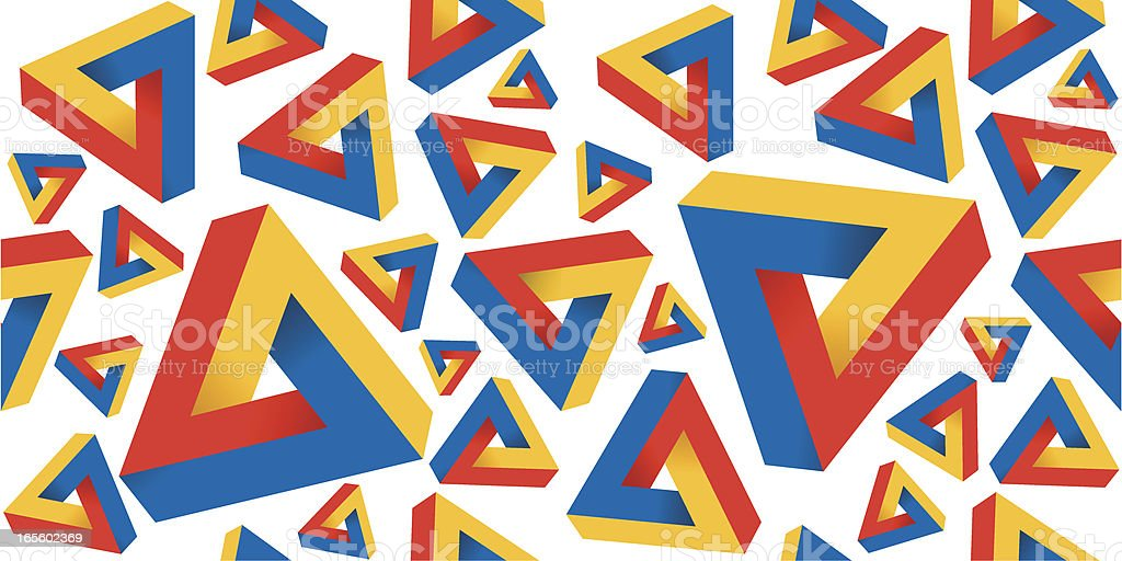 Impossible Triangle Pattern royalty-free impossible triangle pattern stock vector art & more images of backgrounds