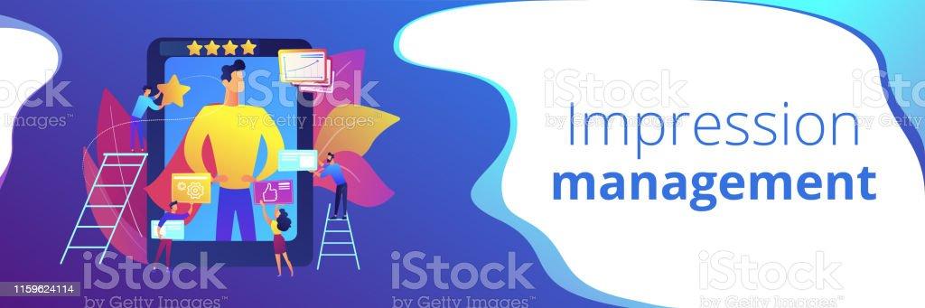 Impression Management Concept Banner Header Stock Illustration Download Image Now Istock