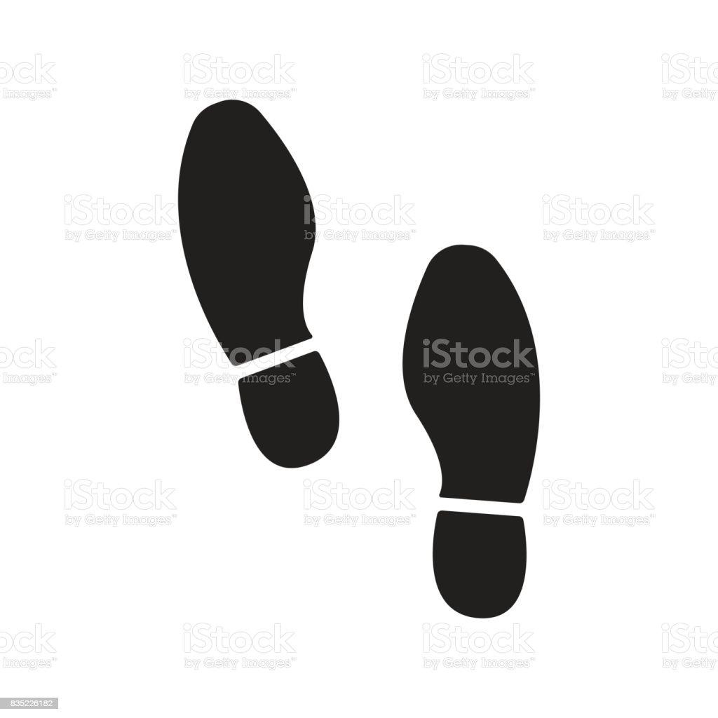 imprint soles shoes icon