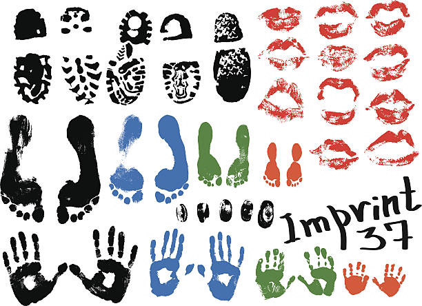 stockillustraties, clipart, cartoons en iconen met imprint - baby dirty
