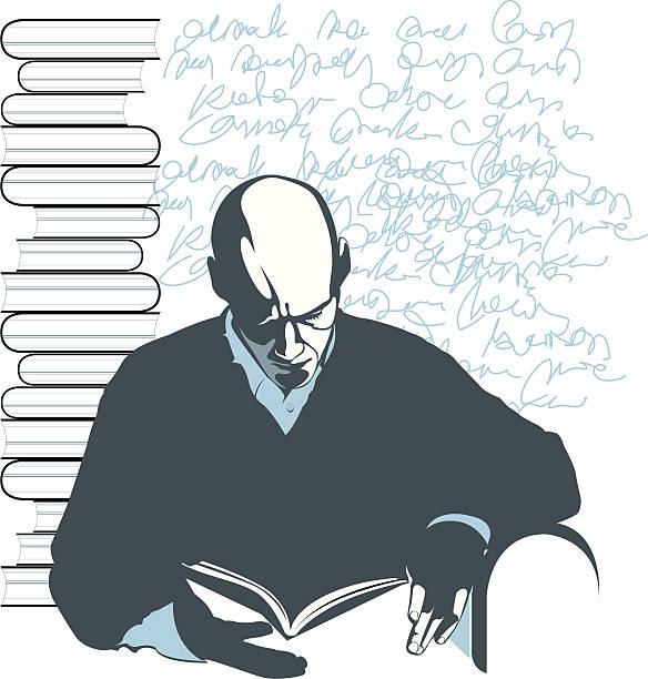 W bibliotece. – artystyczna grafika wektorowa