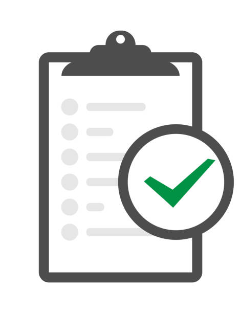 ilustrações de stock, clip art, desenhos animados e ícones de in compliance icon set that shows a company passed inspection clipboard verification vector icon isolated on transparent background, clipboard verification logo concept - inteiro