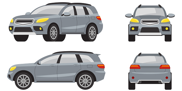 SUV in different views.