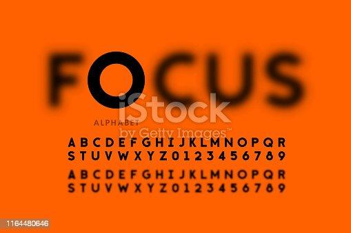 istock In focus style font design 1164480646