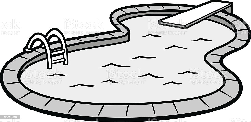 In Ground Pool Illustration Stock Illustration - Download ...