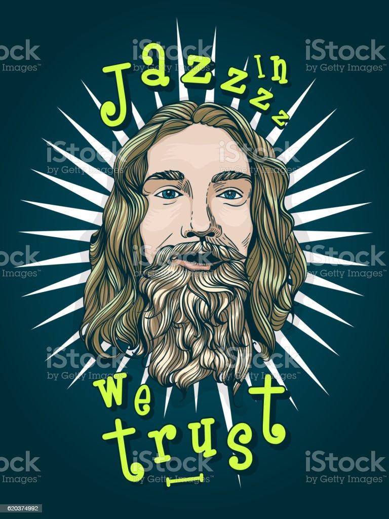 In Jazz we trust. in jazz we trust - arte vetorial de stock e mais imagens de adulto royalty-free