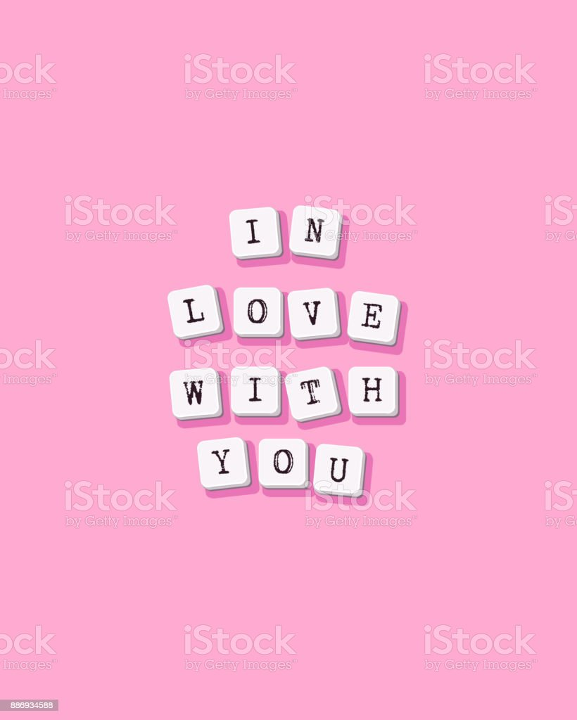 In Love With You   Vector Valentines Day Greeting Card, Poster, Flyer,  Brochure