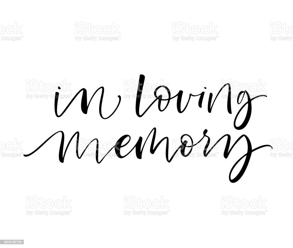 In loving memory card.