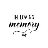 istock In loving memory. Vector illustration. Lettering. Ink illustration. 1138950353