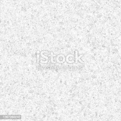 istock GRANITE STONE in macro - seamless pattern design in shades of light gray - beautiful creative natural background in vector with visible little pebbles texture and rough uniform structure - original stock illustration 1267260242