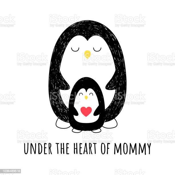 In my mothers heart vector illustration penguin mom and her baby nice vector id1036489516?b=1&k=6&m=1036489516&s=612x612&h=v zcyvblxyq6pqnxybyijwlf6qxn rokaoyybivn6oq=