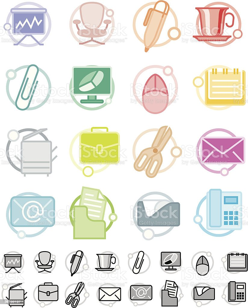 In office Icon set royalty-free in office icon set stock vector art & more images of adhesive tape