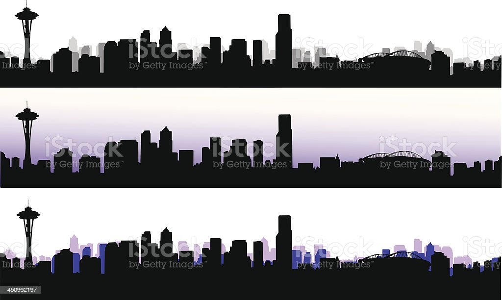 In Seattle royalty-free stock vector art