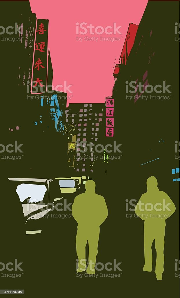 In the Big City royalty-free stock vector art