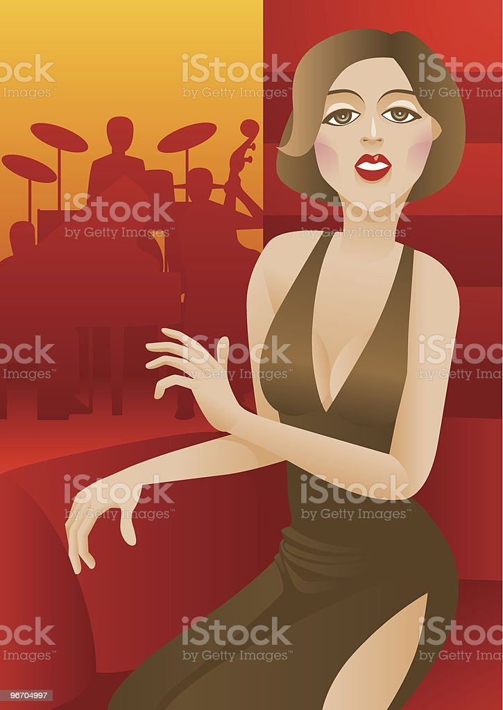 In the Cafe royalty-free stock vector art