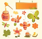 A set of garden related items. File also include AI CS2, PDF and Jpeg format.