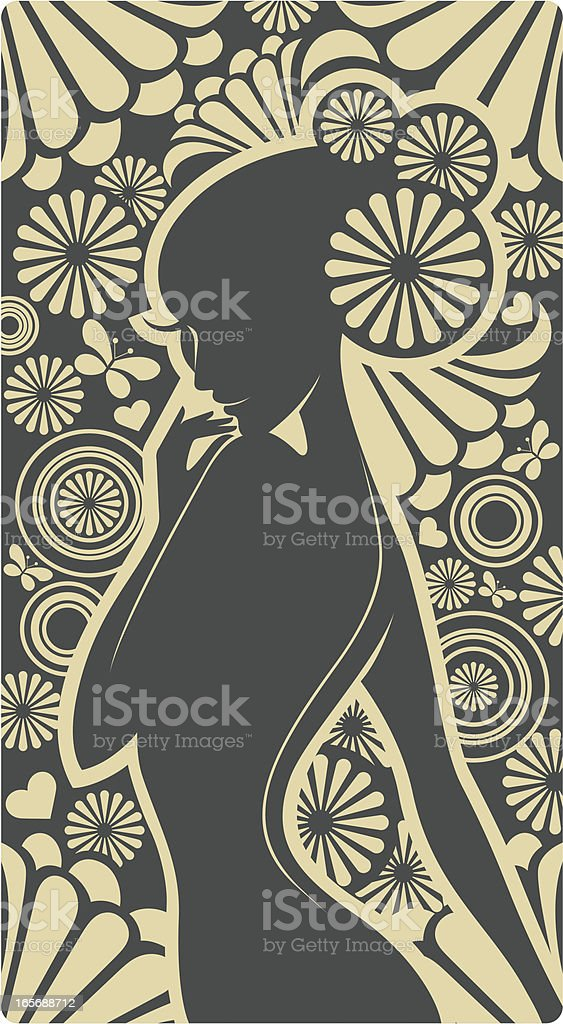 In the garden. royalty-free stock vector art