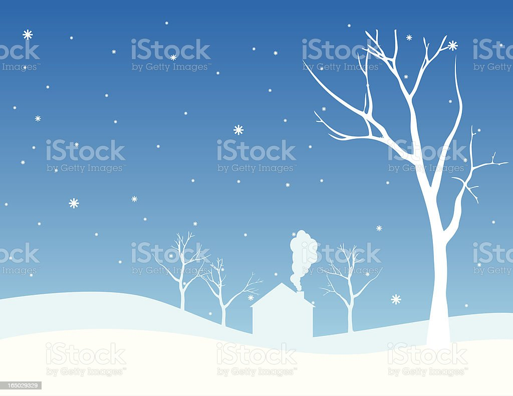 In the middle of winter royalty-free stock vector art