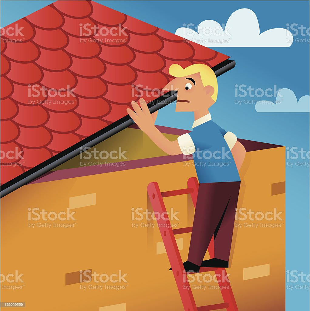 In the Roof royalty-free stock vector art