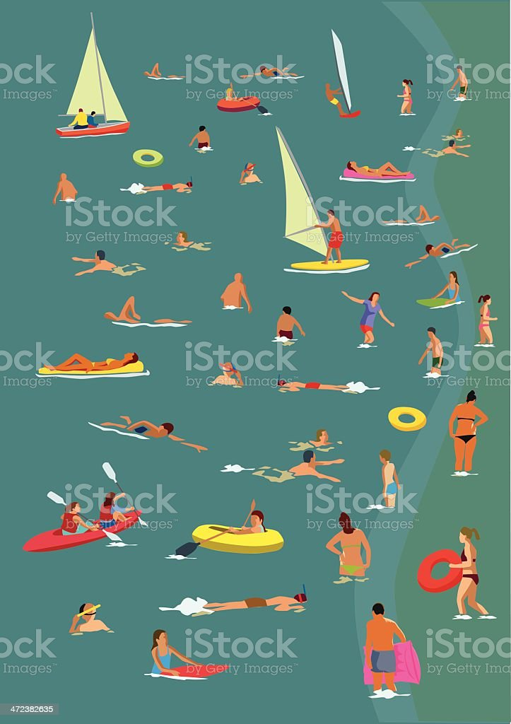 In the sea vector art illustration