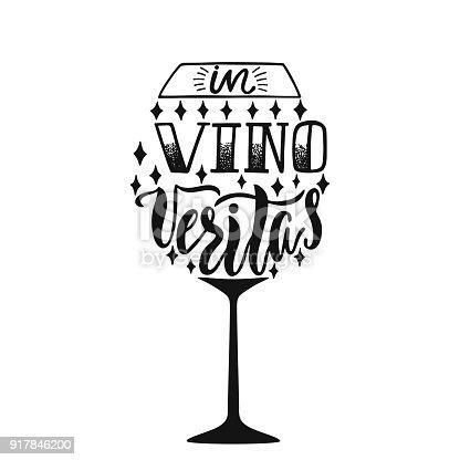 In Vino Veritas Latin Phrase Means In Wine Truth Hand ...
