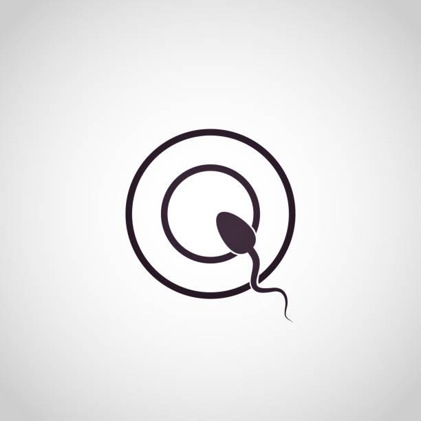 In Vitro Fertilization logo, IVF logo icon, Newborn baby, IVF concept Vector illustration vector art illustration