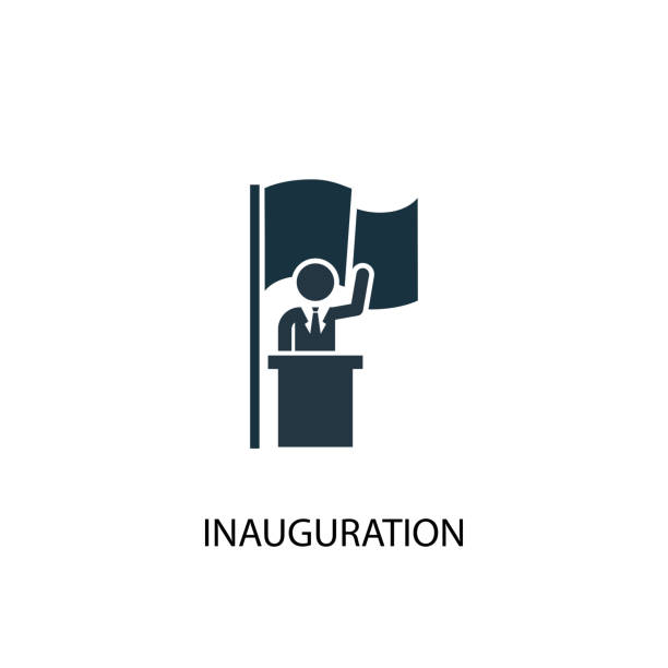 Inauguration icon. Simple element illustration Inauguration icon. Simple element illustration. Inauguration concept symbol design from Elections collection. Can be used for web and mobile. inauguration stock illustrations