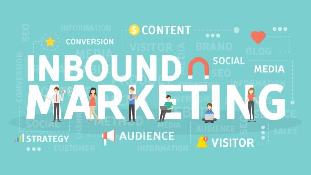 ilustrações de stock, clip art, desenhos animados e ícones de inbound marketing concept. - inbound marketing
