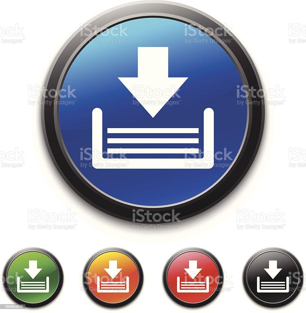 Inbox icon royalty-free stock vector art