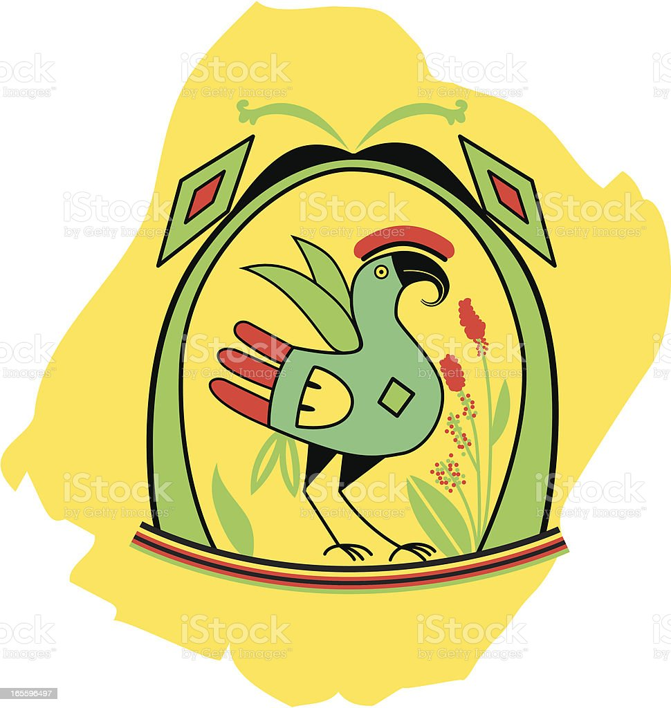 Inca pájaro - ilustración de arte vectorial
