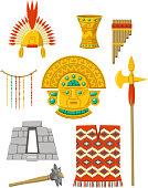 Inca Empire Icon Set