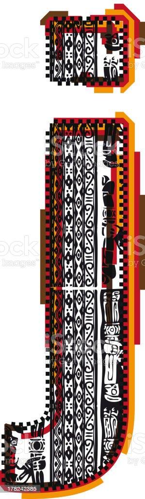 Inca Letter j royalty-free inca letter j stock vector art & more images of alphabet