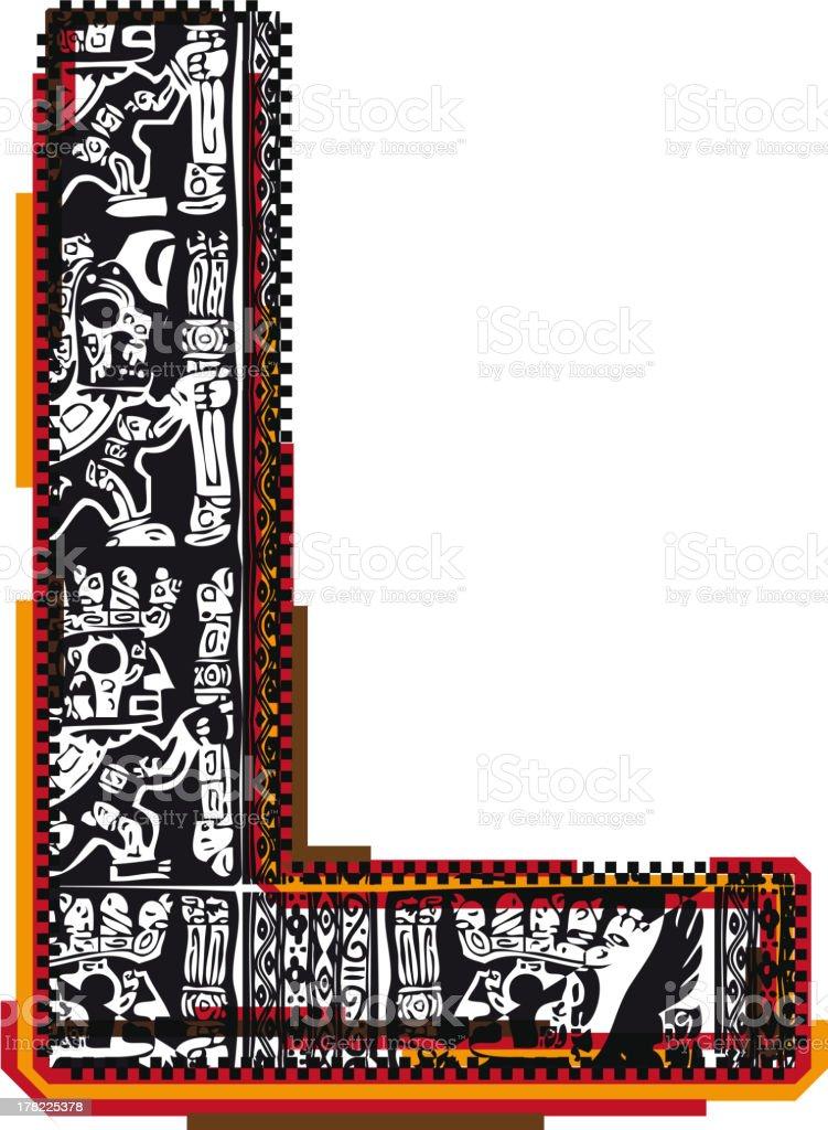 Inca Letter L royalty-free stock vector art