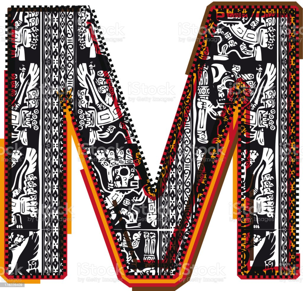 Inca Letter M royalty-free inca letter m stock vector art & more images of alphabet