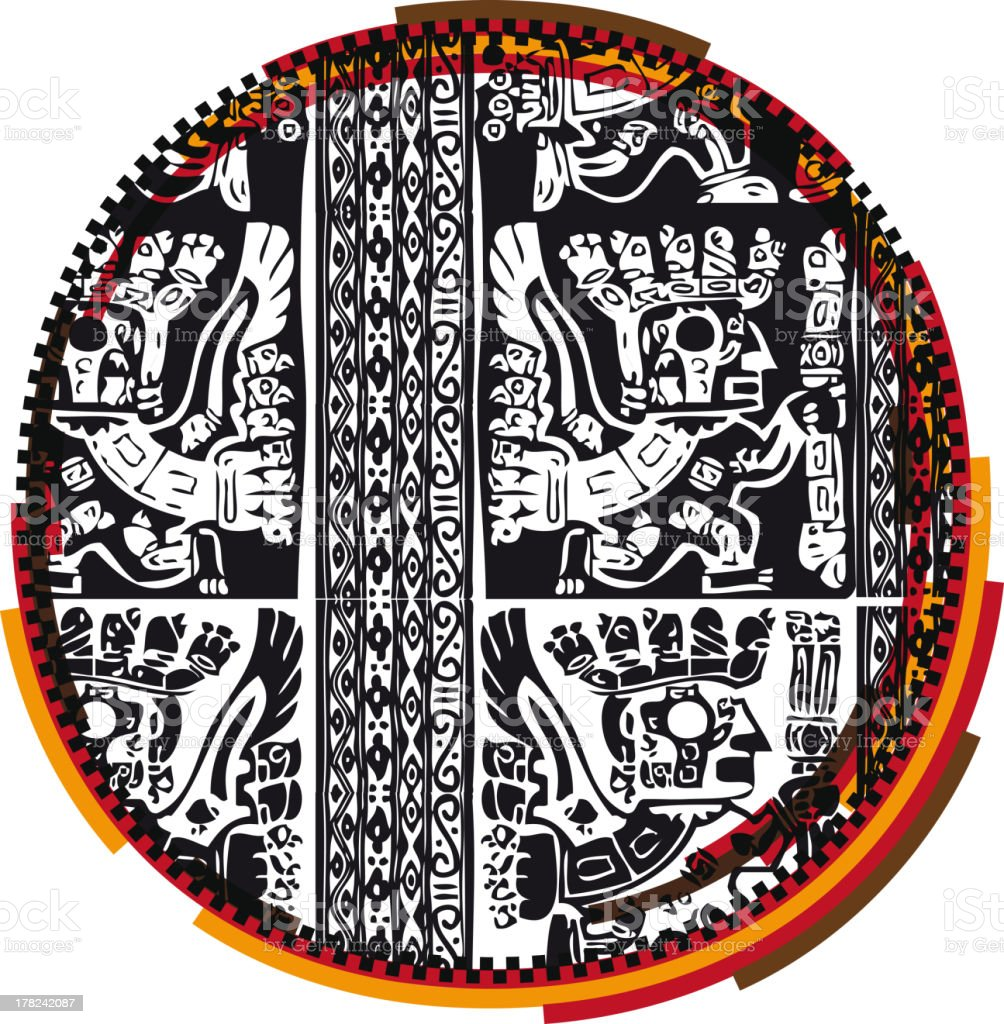 Inca Letter o royalty-free stock vector art