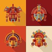 Inca masks.