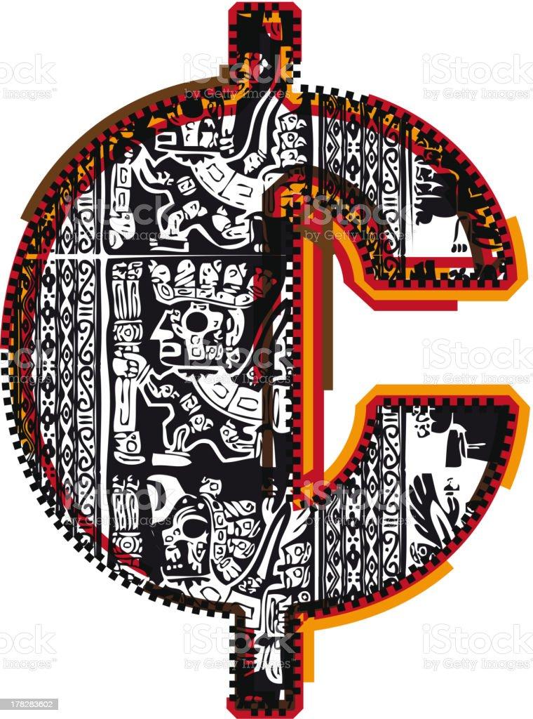 Inca Symbol royalty-free stock vector art