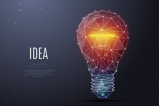 Incandescent lamp low poly