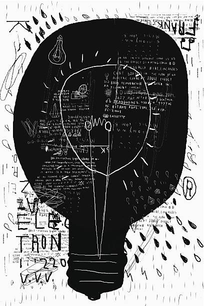 Incandescent vector art illustration