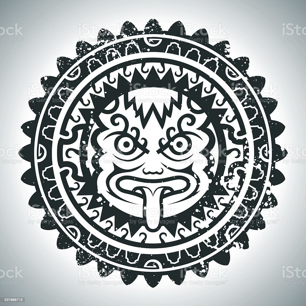 Máscara del Inca - ilustración de arte vectorial