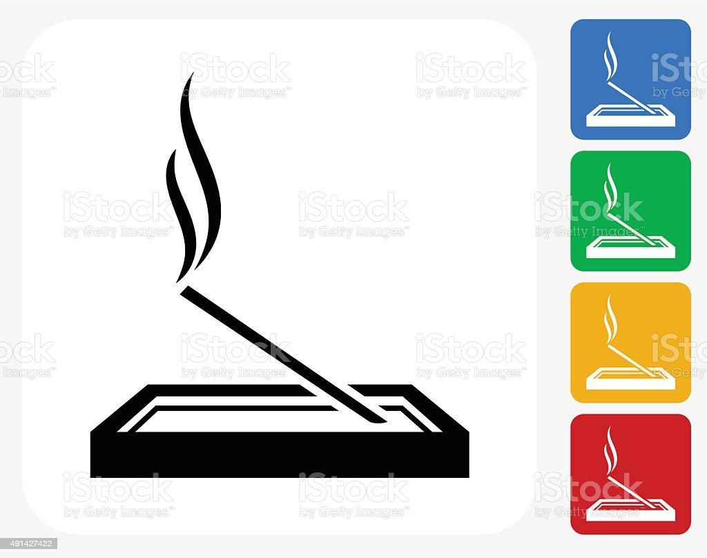 Incense Icon Flat Graphic Design vector art illustration