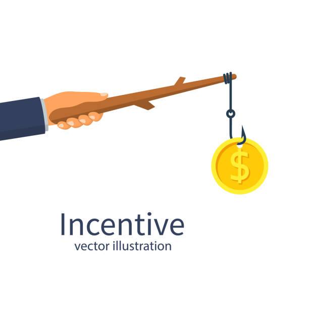 incentive-konzept. business-metapher - feststecken stock-grafiken, -clipart, -cartoons und -symbole