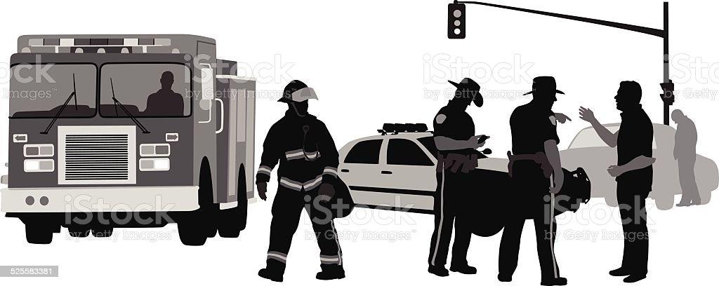 Incident vector art illustration