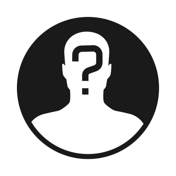 incognito 5 incognito, unknown person, silhouette of man on white background mug shot stock illustrations