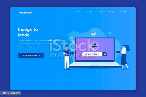 istock Incognito browsing illustration concept 1312254939