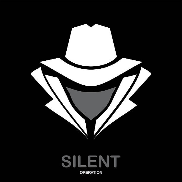 incognito. hacker. spy agent. - gangster stock illustrations, clip art, cartoons, & icons