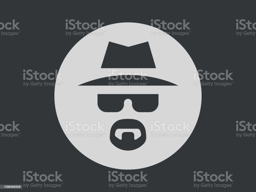 Incognito Icon Vector Illustration. Browse in private Laptop